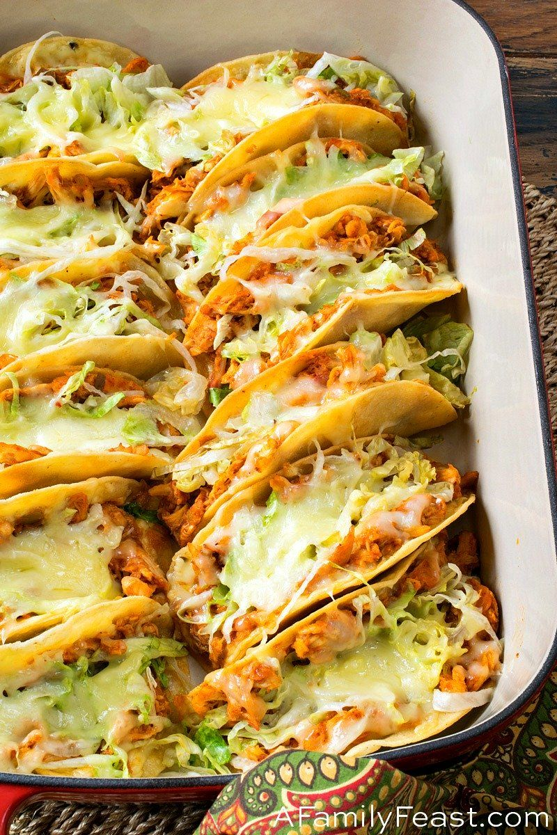 Easy Rotisserie Chicken Tacos - A Family Feast® #weeknightdinners