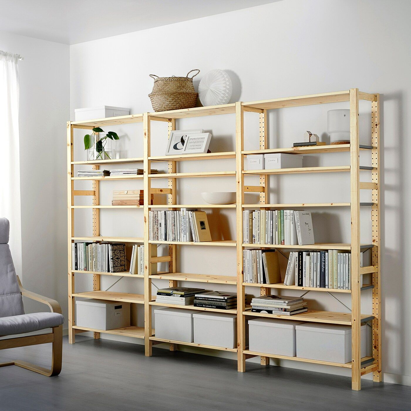 IVAR Corner shelf pine IKEA in 2020 | Eckregale