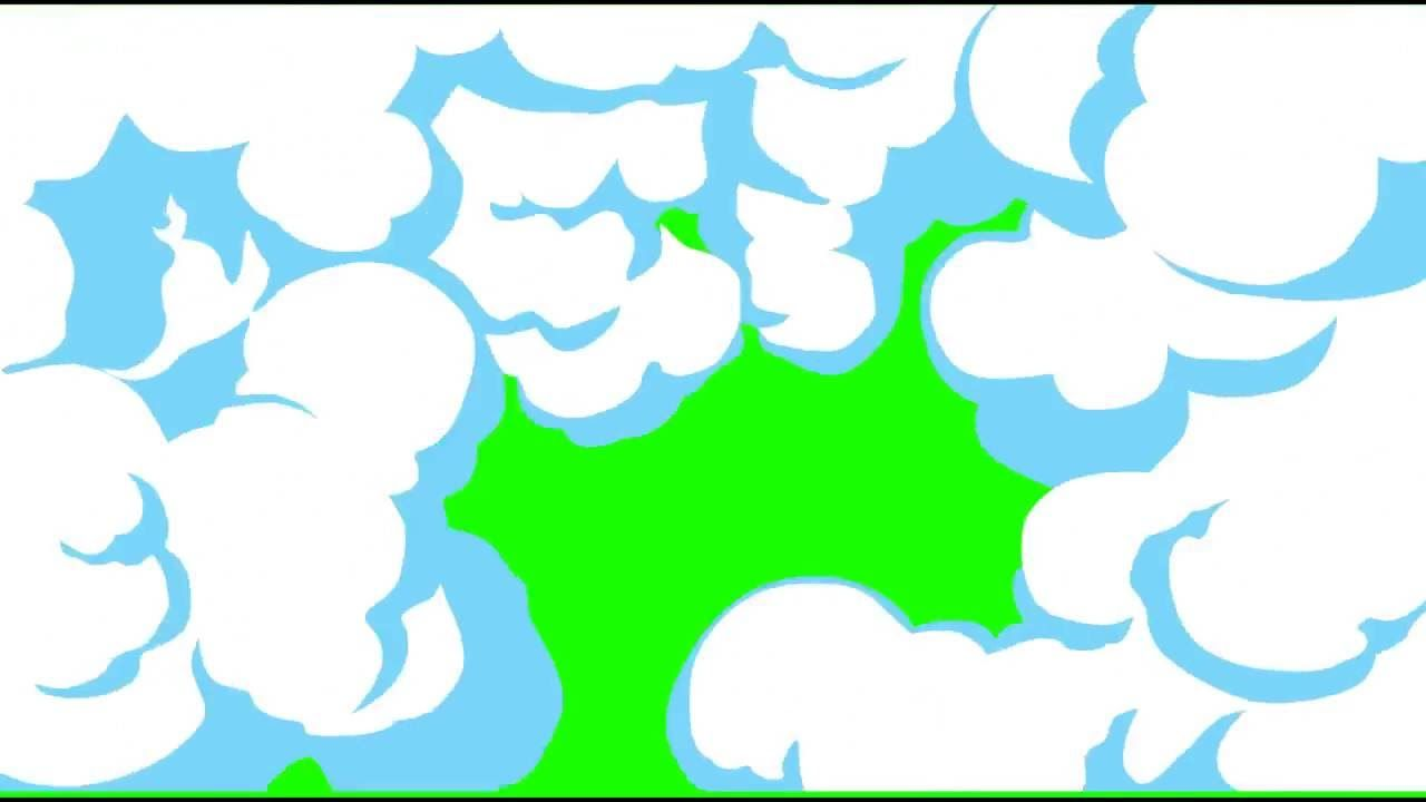 Fumaca Cartoon Smoke Color Explosions Green Screen