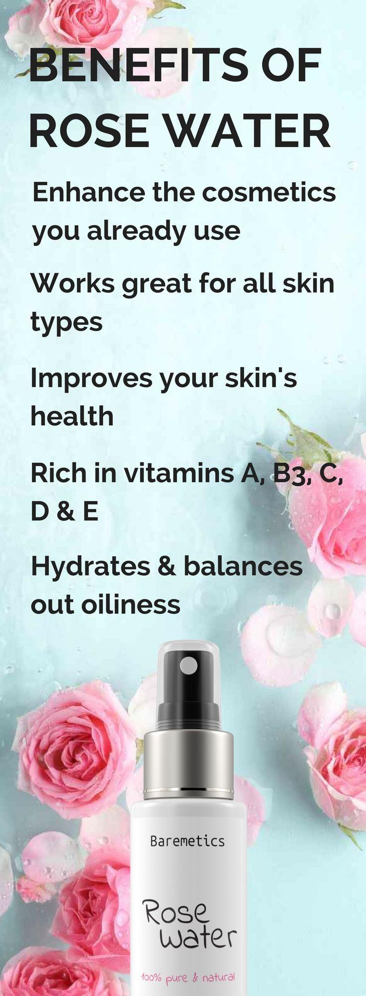 Natural Rose Water 100ml Natural Skin Care Routine Skin Care Wrinkles Natural Skin Care