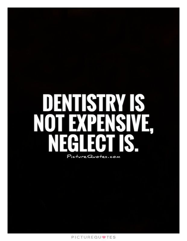Do you tell this to your patients? Don't neglect those teeth.