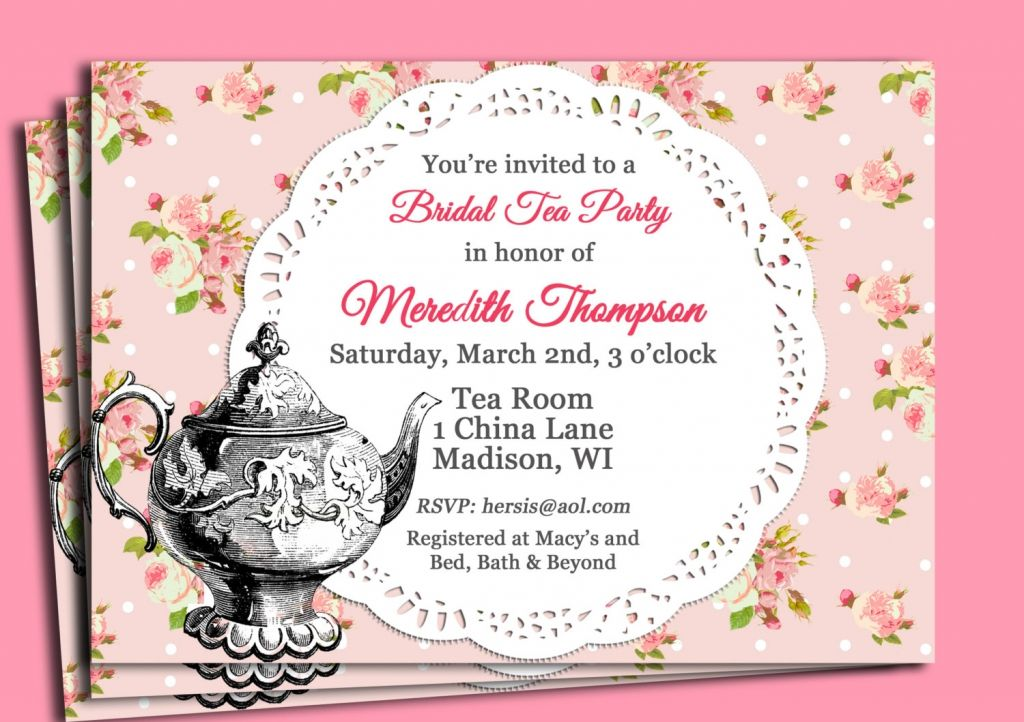 Here Are Some Examples Of Suitable Wording For Tea Party Bridal Shower Invitations Description From Grahainvitations I Searched This On Bing