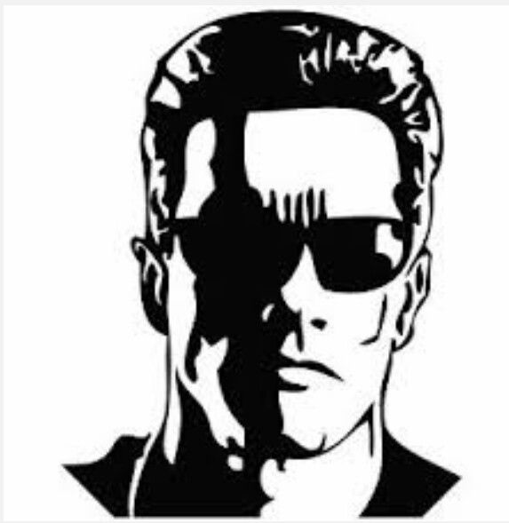 Terminator stencil l pinterest stenciling and craft for Terminator face tattoo