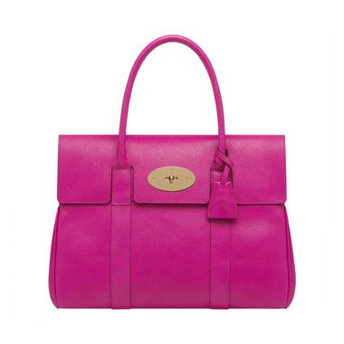 Mulberry Bayswater In Pink Glossy Goat