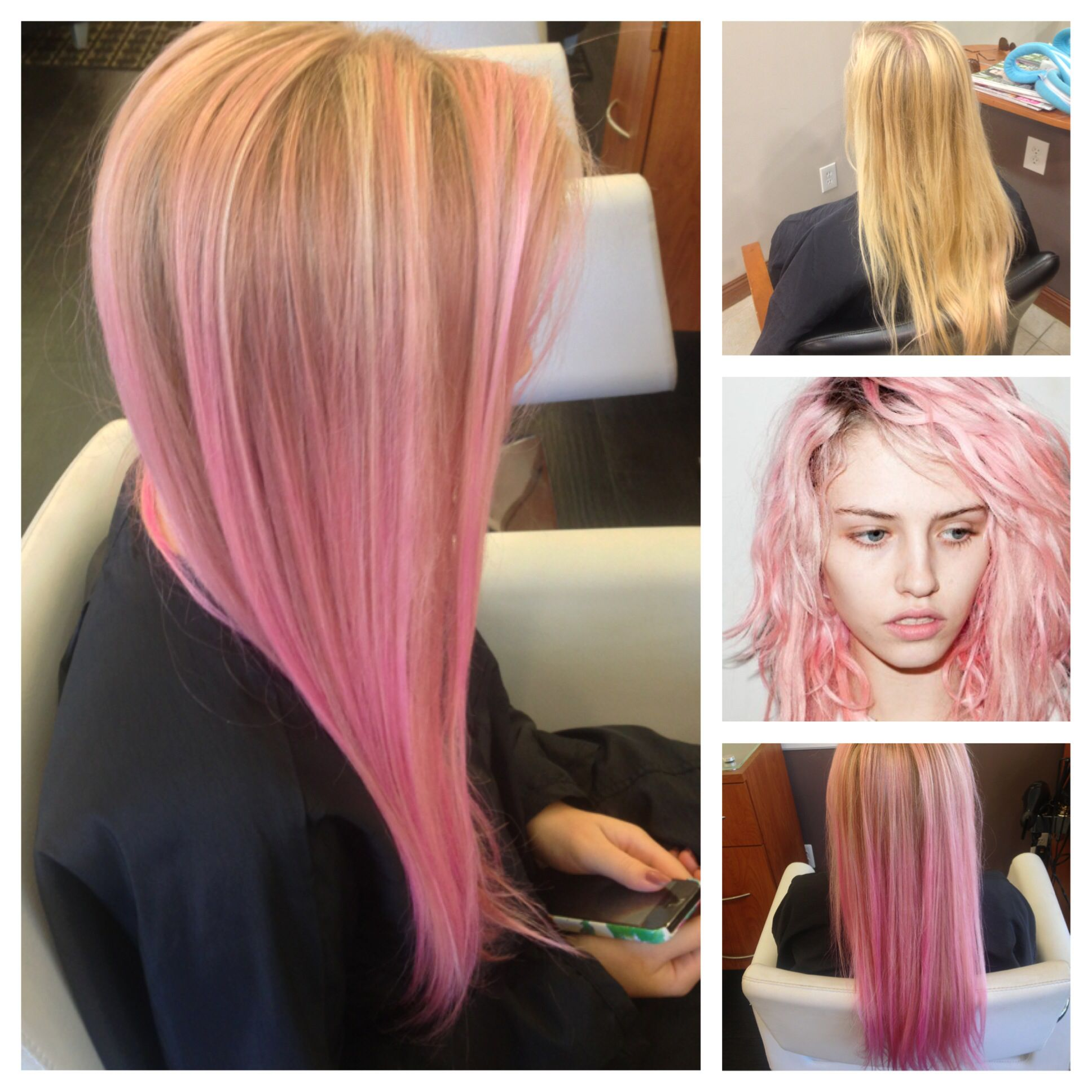 Inspiration Before And The Final Product Pravana Pastel Pink