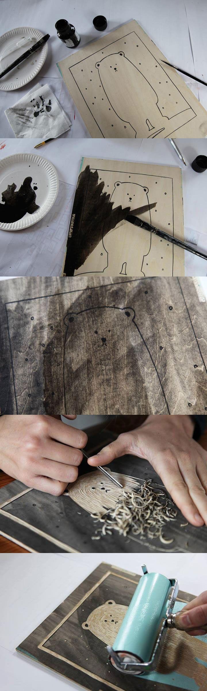 Printing mit Sperrholz, ausprobieren!