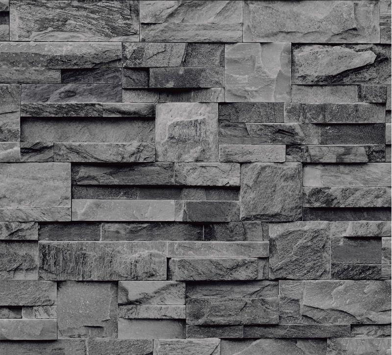 Papier Peint Pierre De Parement Grise Koziel Slate Wallpaper Slate Effect Wallpaper Brick Effect Wallpaper