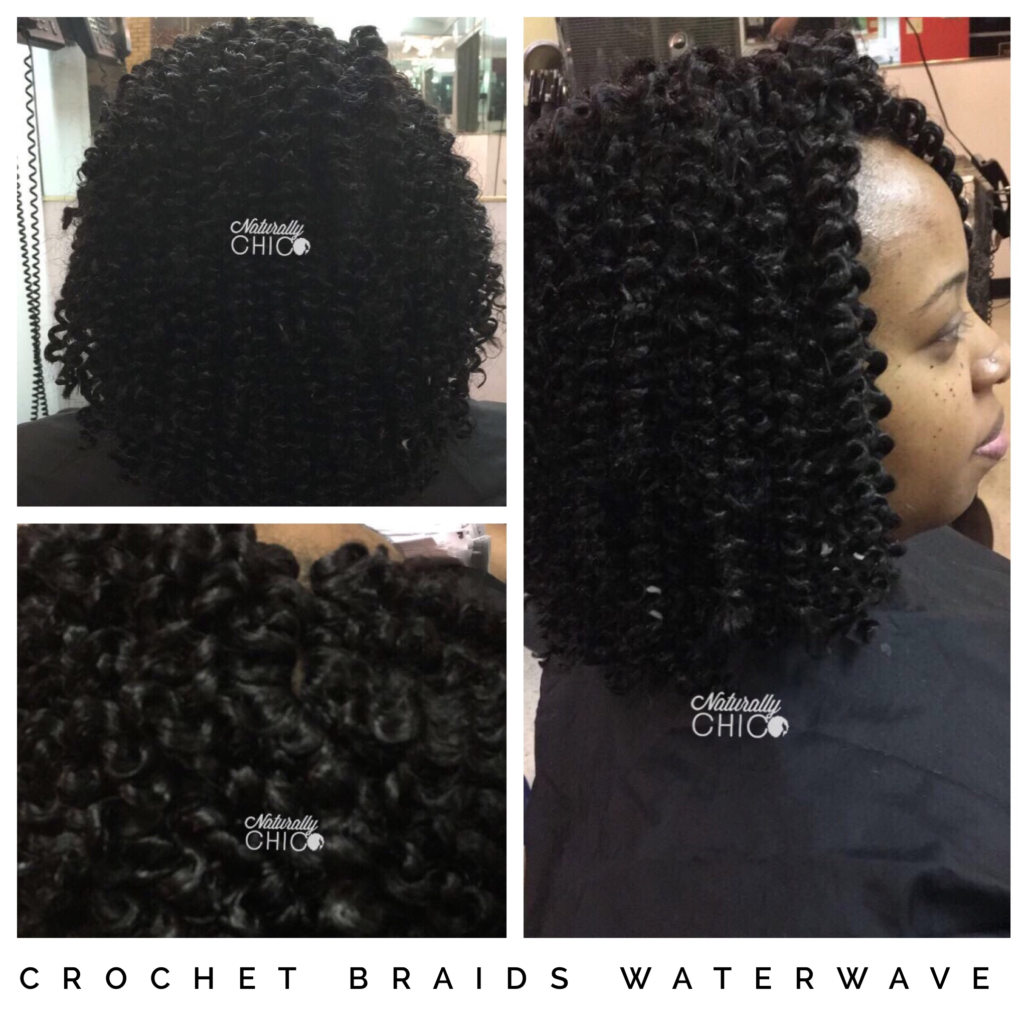 Crochet Braids Used Freetress Waterwave Protective Styles For