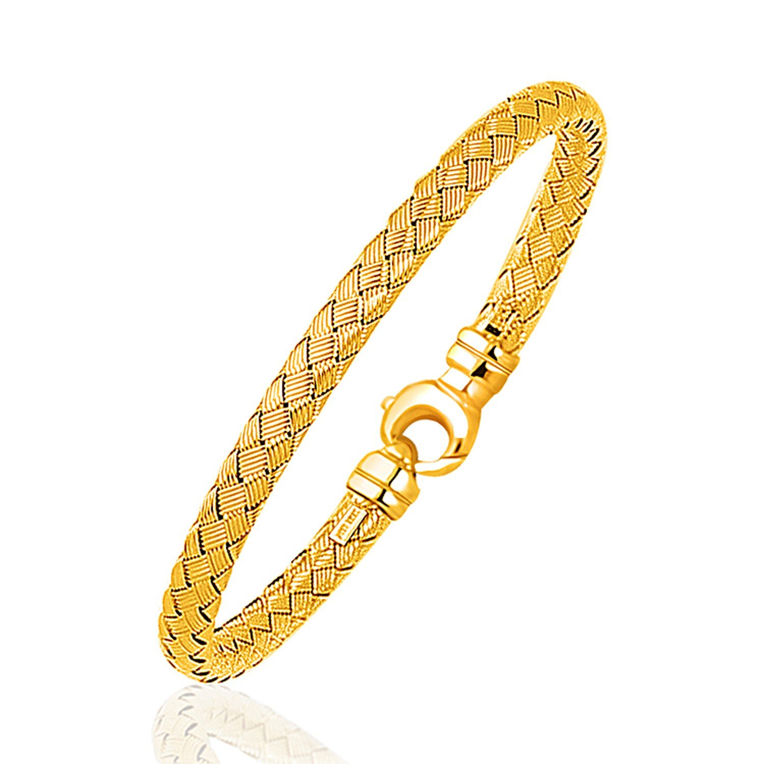 Fancy weave bangle in k yellow gold mm bangle fancy and gold