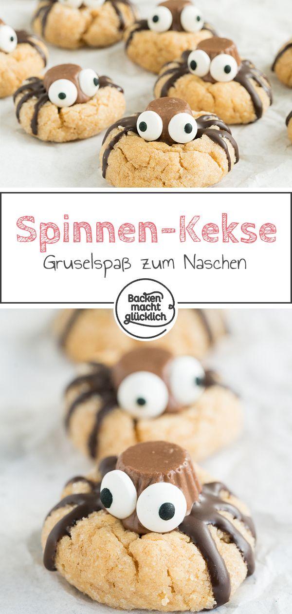 Spinnen-Cookies für Halloween | Backen macht glücklich