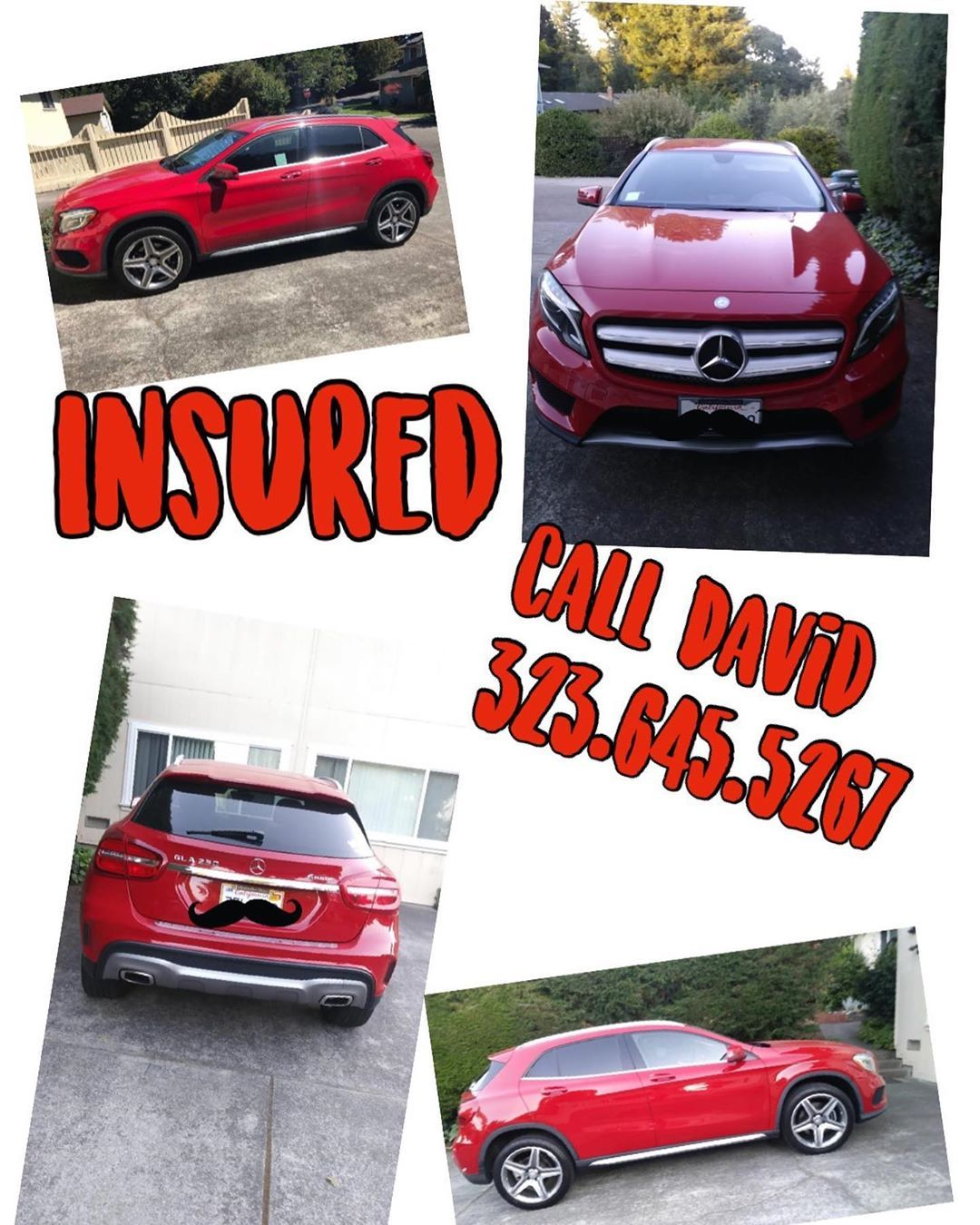 Hot Red 2018 Mercedes Gla Insured Call And Get A Quote On Your