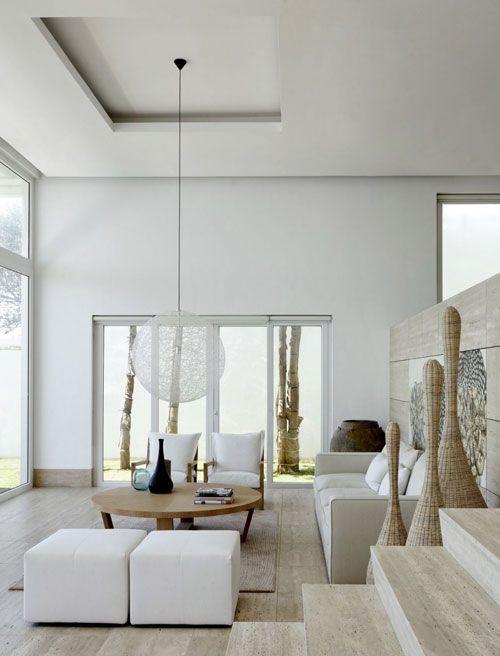 White space extravagant homes Pinterest Charme, Épurer et