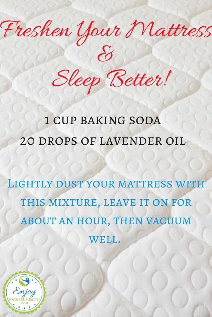 All you need is baking soda and your favorite oil. For better sleep, I  suggest lavender oil, but you can use so many others!