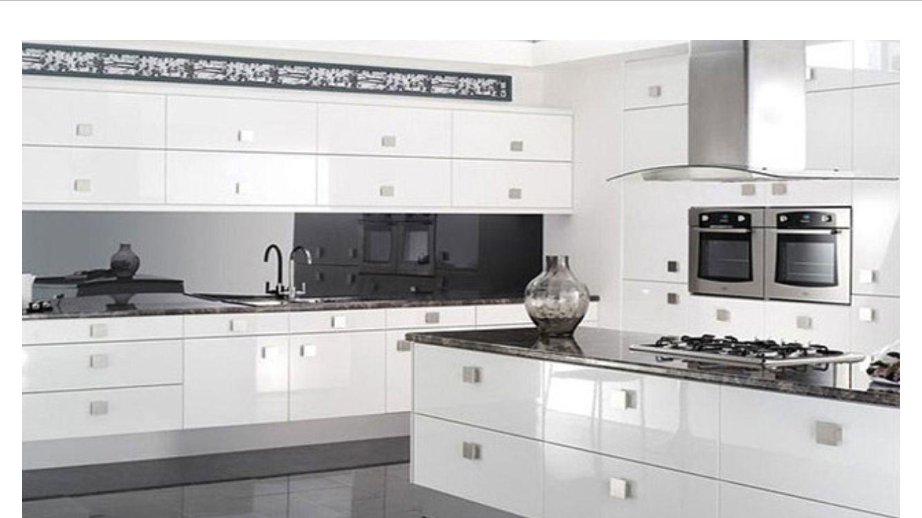 White Kitchen Mirror Splashback smoke mirror splashback | our kitchen | pinterest | mirror
