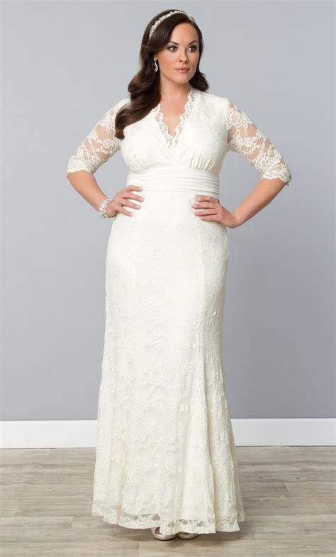 Best Blush Wedding Dresses For Plus Size Older Brides