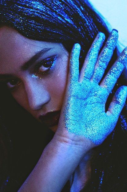 Glitter-Drenched Hair And Makeup - Nasty Galaxy