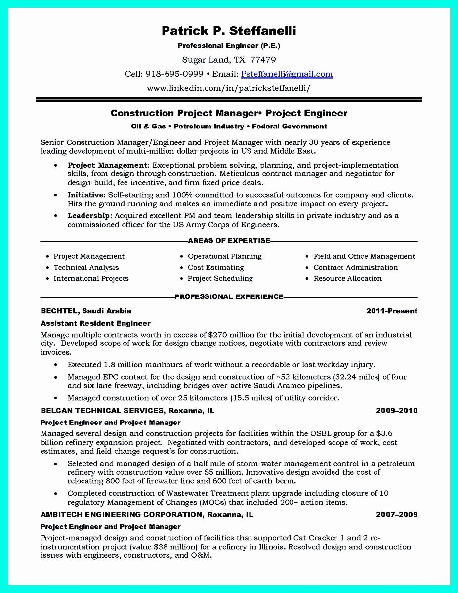20 Construction Project Coordinator Resume Project