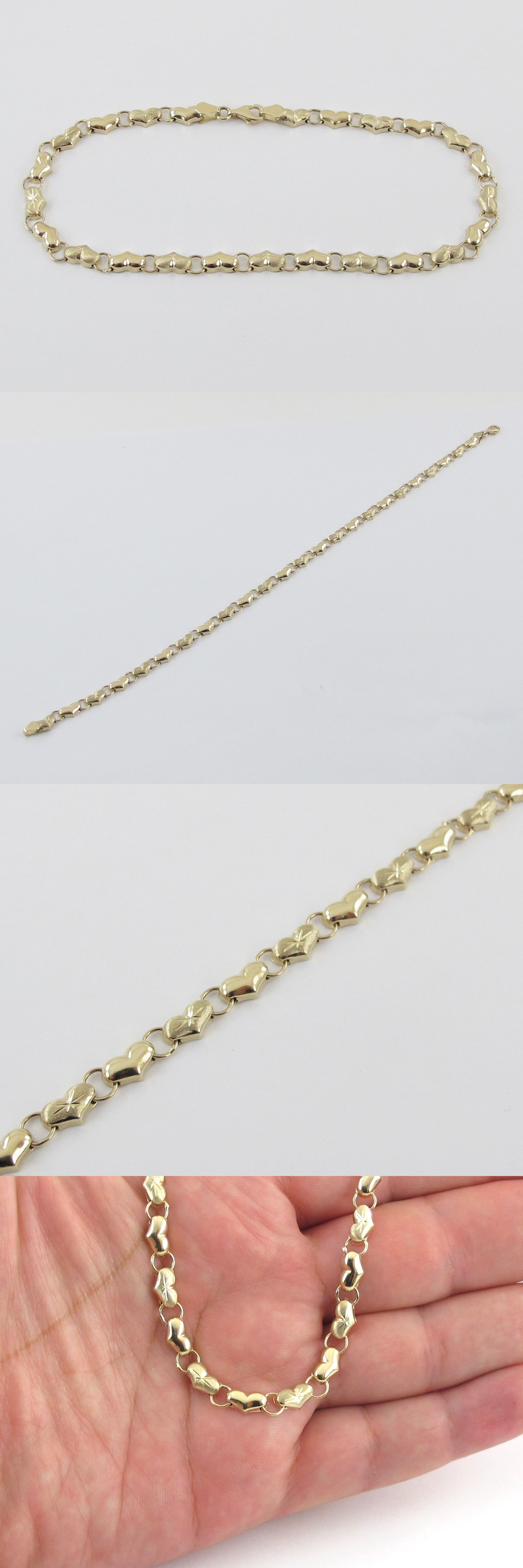 design vintage round diamond white in gold bracelet img wave bar anklet