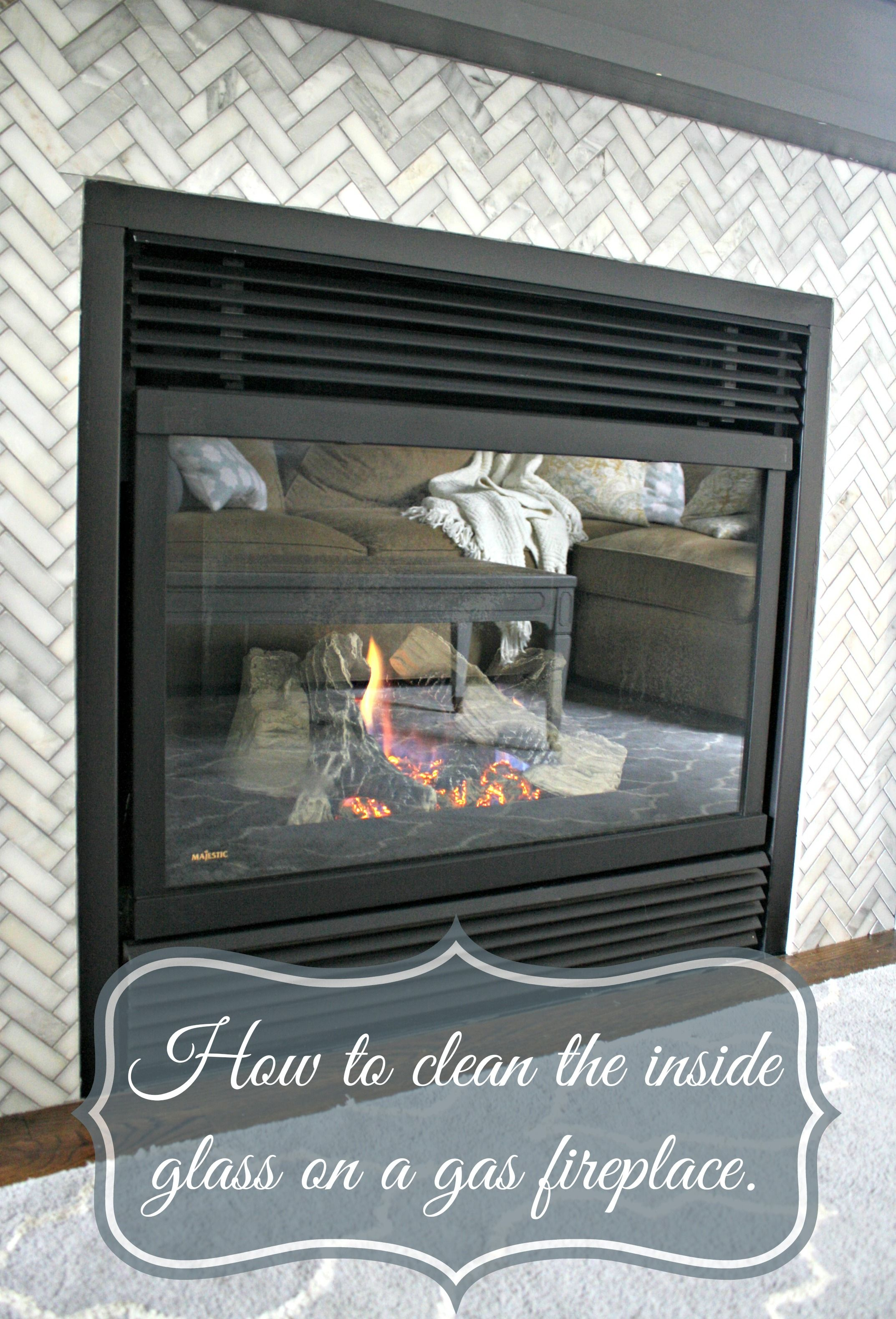 Cleaning Gas Fireplace Glass Glass Fireplace Clean Fireplace Glass Gas Fireplace