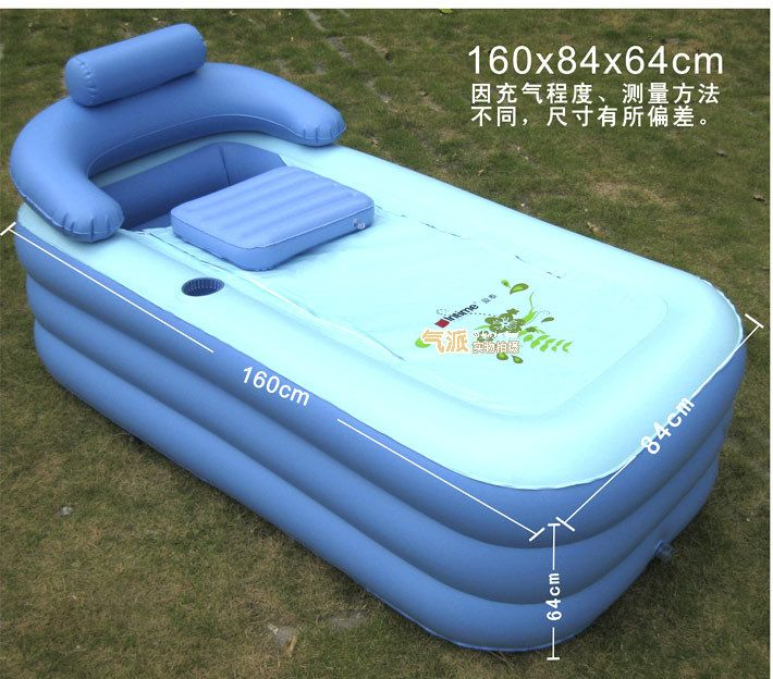Deluxe Thickened PVC Spa Portable Air Bathtub, Enjoyable Bath. Brand Large  Size Inflatable Bath Tub With Cushion And An Air Pump In Tubs From Home U0026  Garden ...