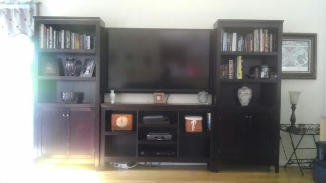 Target: 2 Carson 5 Shelf Bookcases With Doors And Carson Horizontal Bookcase