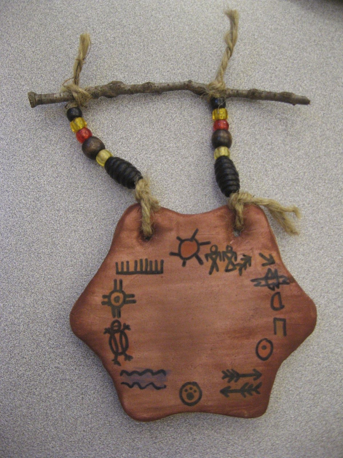 Jamestown Elementary Art Blog 4th Grade Native American Clay Hide Stories With Pictographs