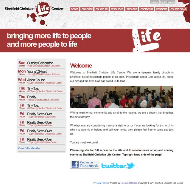 We helped this Sheffield church get their website off the ground