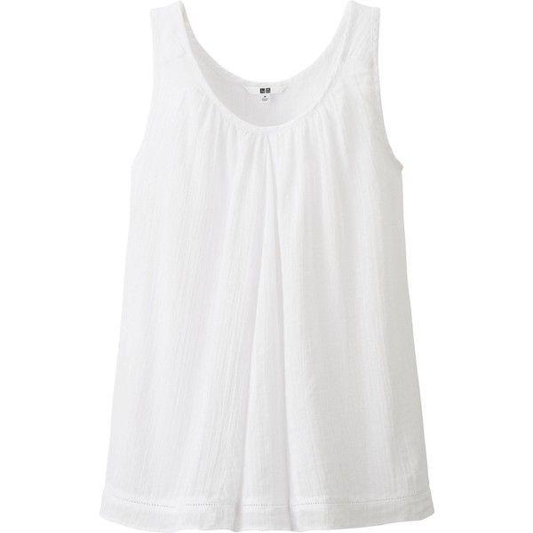 Uniqlo Women Gauze Sleeveless Blouse 9 90 Liked On Polyvore