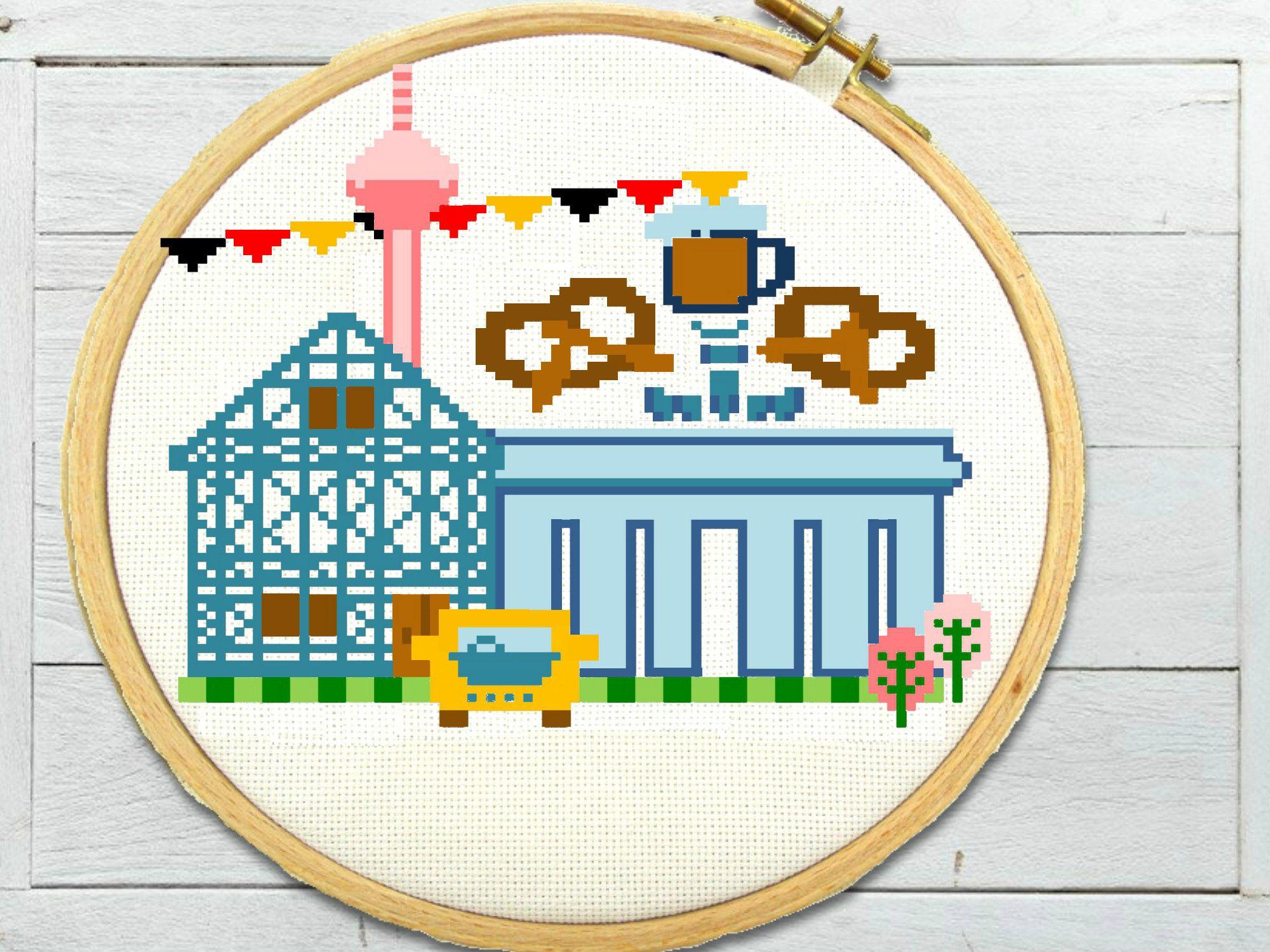 Germany cross stitch pattern - berlin cross stitch - cross