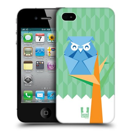 e_cell - Head Case Owl Origami Design Protective Back Case Cover for Apple iPhone 4 & 4S