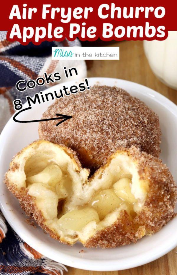 Air Fryer Churro Apple Pie Bombs -   18 air fryer recipes easy dessert ideas