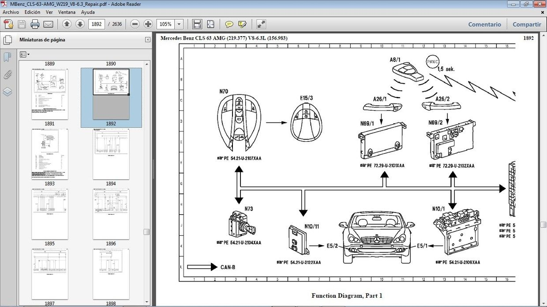 Mercedes Benz Cls63 Amg W219 Manual De Taller Workshop Manual Heisse Autos Autos