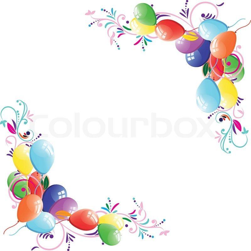 Stock-Vektor von \'Floral Ballon Hintergrund Geburtstag Rahmen ...