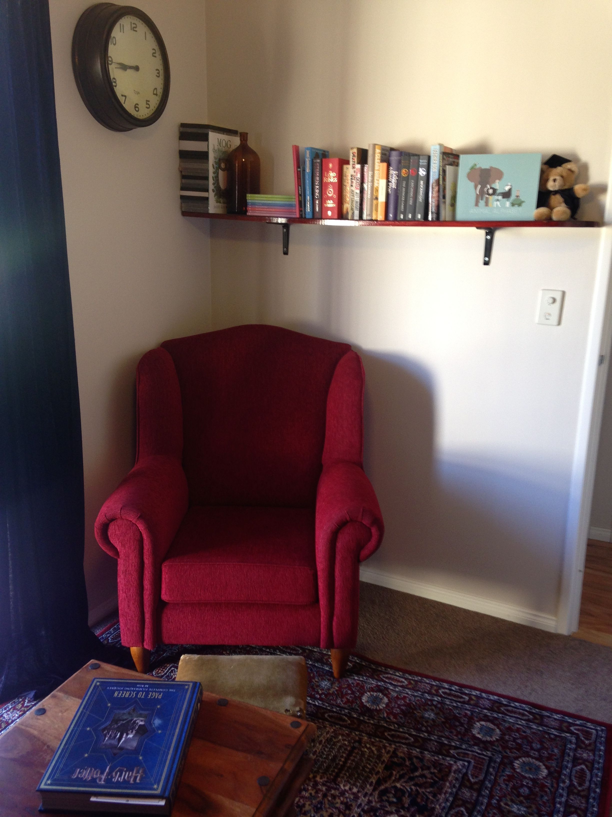 My Very Own Gryffindor Themed Reading Room Complete With