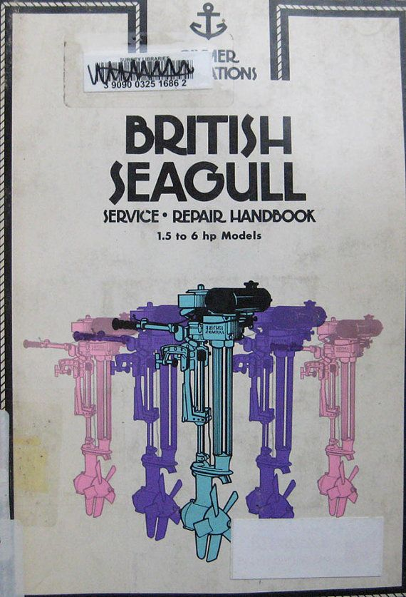 Clymer British Seagull Outboard Service Repair Manual 1 5 6 Outboard Clymer Seagull