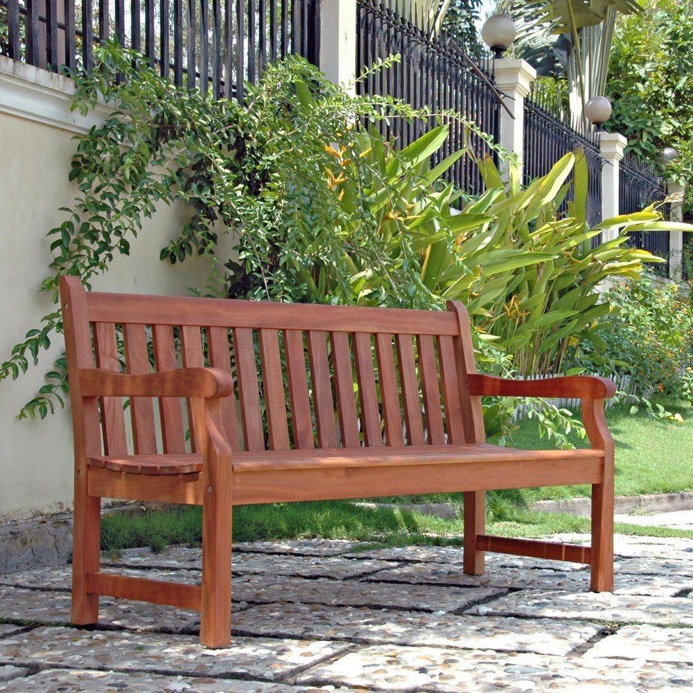 5 Ft Outdoor Wooden Garden Bench With