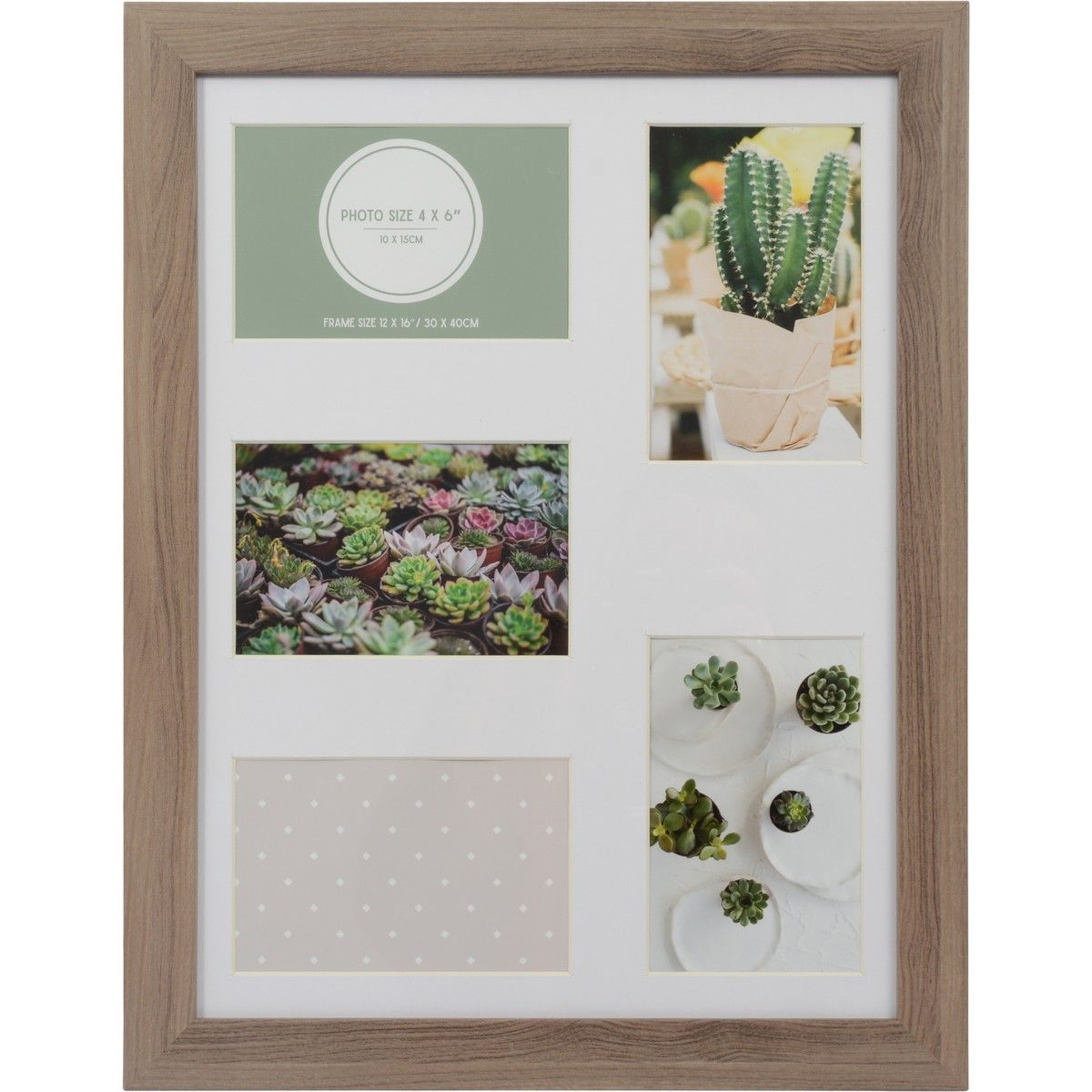 Design House 12x16 Photo Frame With 5 Openings Brown Big W Photo Frame Frame House Design
