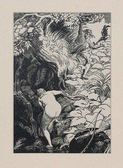 MAX ŠVABINSKÝ - woodcut, 1922