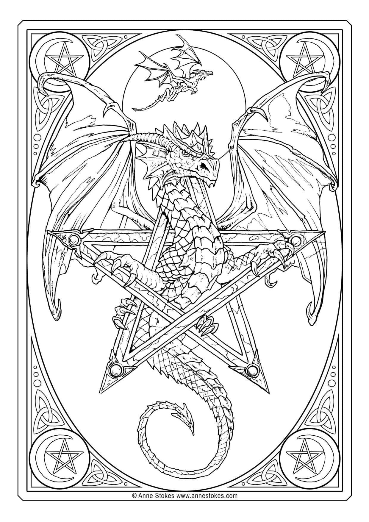 Pin By Irma Kok On Kleurplaten Anne Stokes Art Cards Anne Stokes