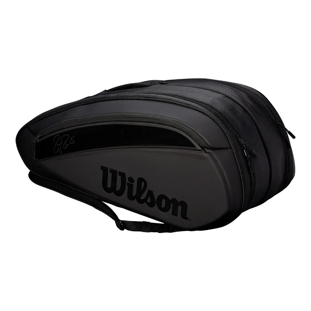 Wilson Federer Dna 12 Pack Tennis Bag Black Wrz832812 In 2020 Tennis Bag Wilson Tennis Bags Badminton Bag