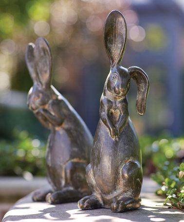 Look what I found on #zulily! Floppy Eared Rabbit Figurine Set #zulilyfinds