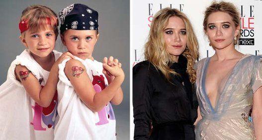 Mary-Kate e Ashley Olsen estrearam na televisão aos nove meses de idade. As 8c134c647f