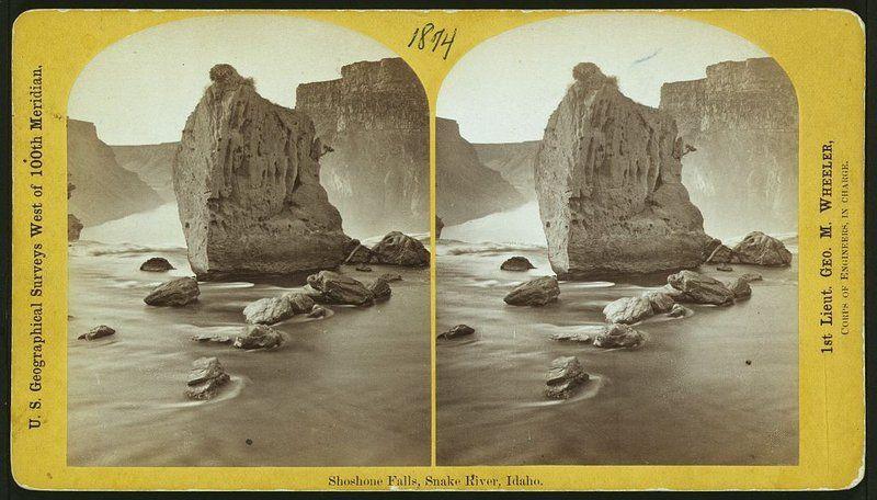 Shoshone Falls, Snake River, Idaho, 1874, from the western geological surveys