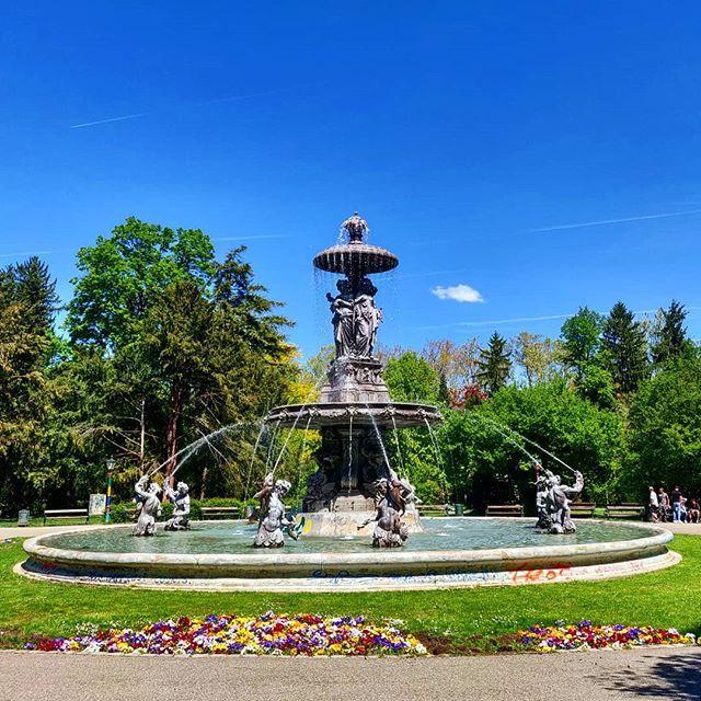 Der Brunnen Im Stadtpark Gestern Bei Heute Ist S Schon Kuhler