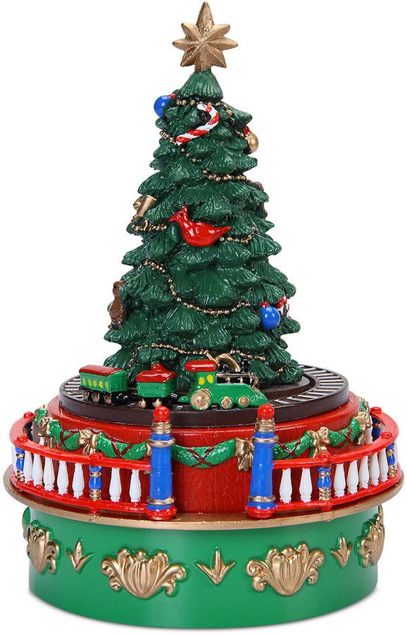 Mr Christmas Mini Carnival Tree With Train Music Box