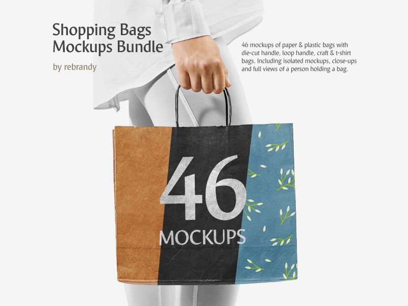 Download Shopping Bags Mockup Bundle Bag Mockup Bags Branding Design Packaging