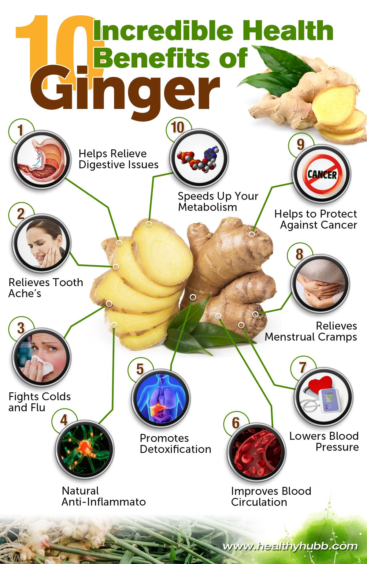 10 Health Benefits of Ginger