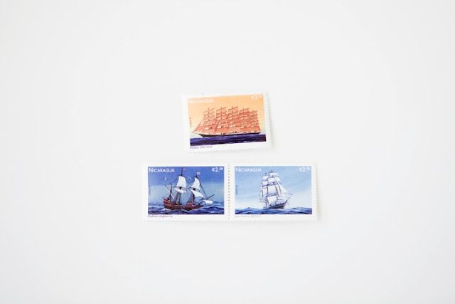 Nicaraguan ship stamps on Send More Mail