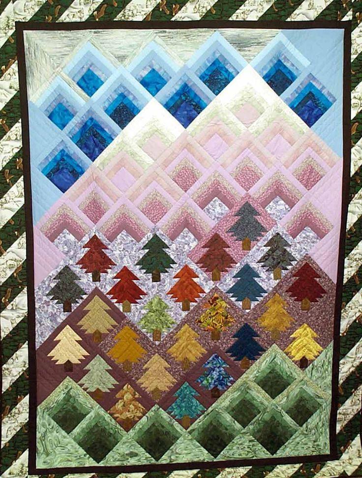 Log Cabin Quilt Pattern Variations     | Quilts | Log cabin