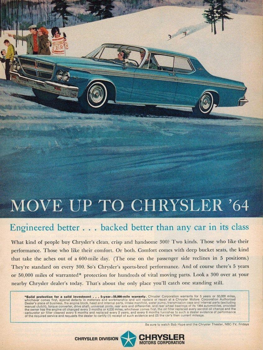 "1964 Lincoln Continental Original Print Ad 9 x 11 /"""